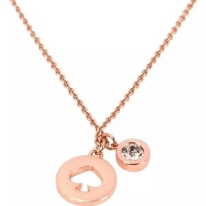 🎉Like New🎉 Rose Gold Kate Spade Necklace